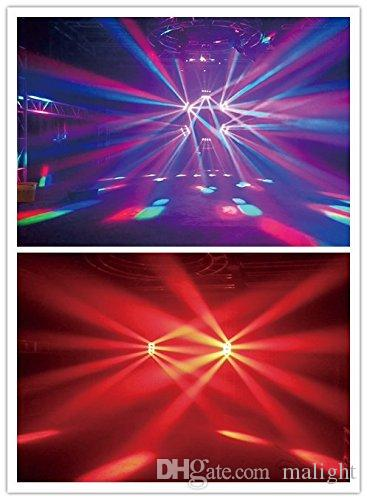 Spedizione gratuita Spider 8X10W CREE Led Moving Head RGBW 4 in 1 Moving light Stage, Bar Moving head wash stage Lamp