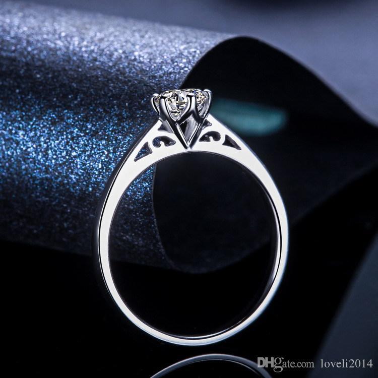 2018 Lsl Jewelry Real White Gold Ring 18k Rgp Stamp Rings Set
