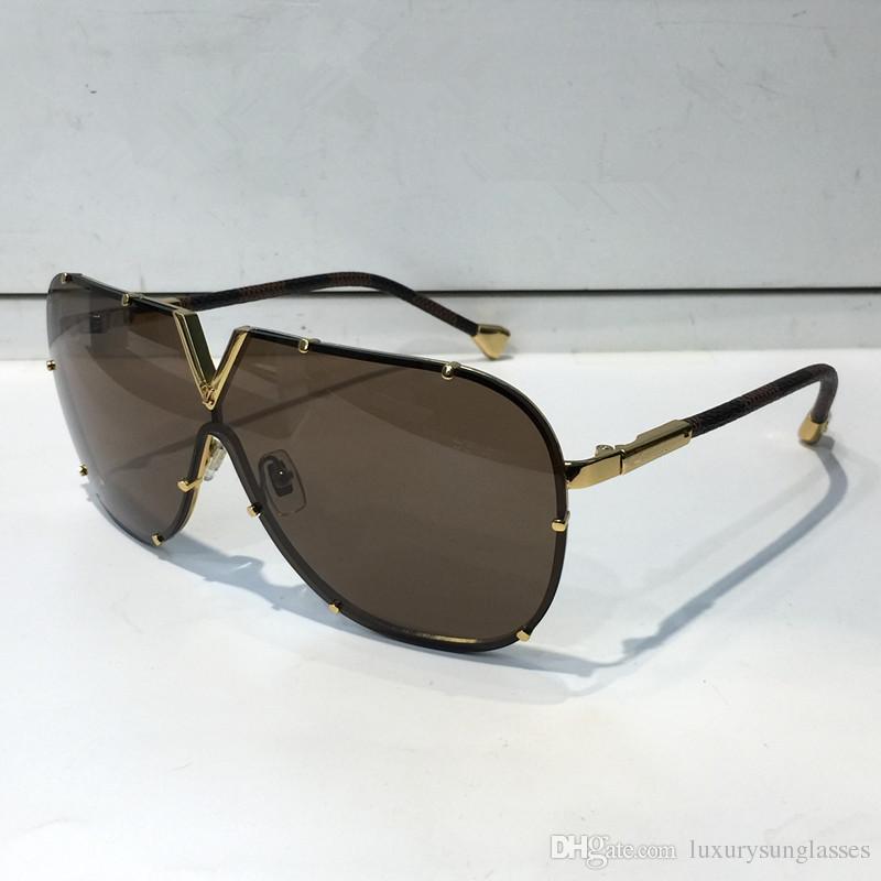 0926 Hombres Mujeres Diseñador Gafas de sol Moda Oval Gafas de sol UV Protección UV Lente Espejo Espejo Lente Sin marco de color chapado en marco Ven con caja