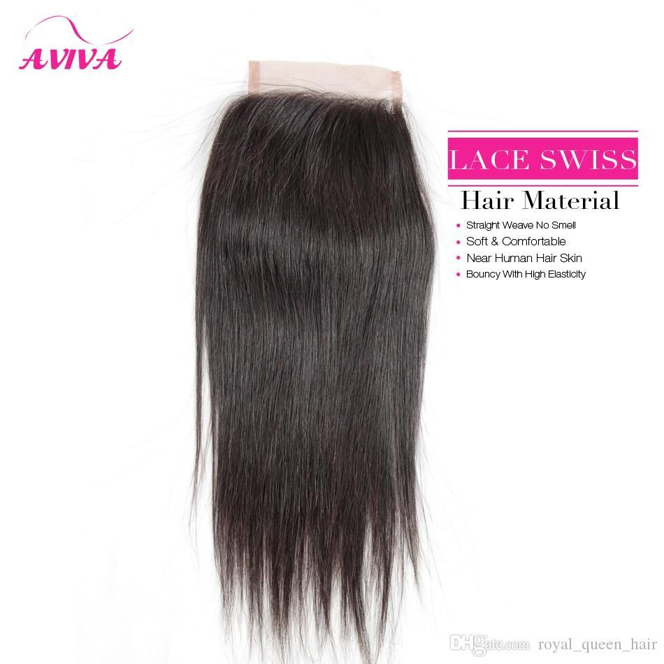 Brazilian Lace Closure 4x4 Peruvian Malaysian Indian Cambodian Mongolian Body Wave Straight Deep Loose Wave Kinky Curly Human Hair Closures