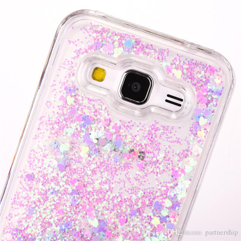 Clear Glitter Stars Dynamic Water Liquid Case for Samsung Galaxy Core Prime G360 G360H G3606 G3608 Plastic Cover Phone cases