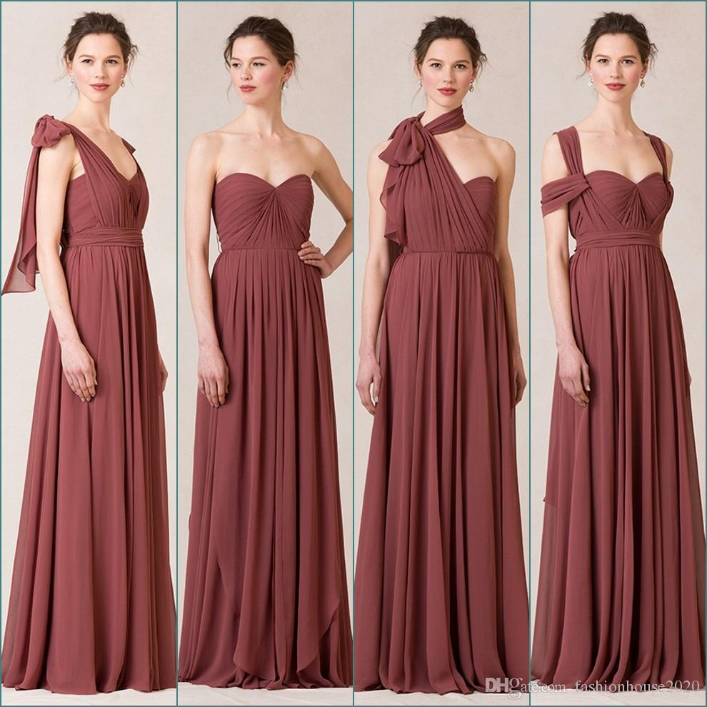 Sexy chiffon blush country bridesmaid dresses long convertible 15 ombrellifo Choice Image