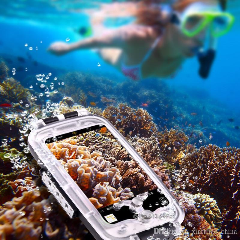 Haweel Waterproof and Snowproof Phone Cover Case for Diving Housing Photo Video Taking Underwater Water Resistant 40M for smart phone