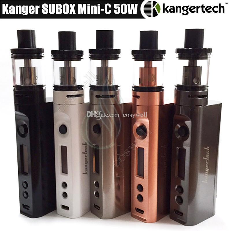 Top Kanger Subox Mini C Стартовый комплект KangerTech KBOX 50 Вт MiniC парообменник SSOCC Емкость для катушки 3 мл Protank 5 Распылитель e сигареты vape kit комплекты DHL