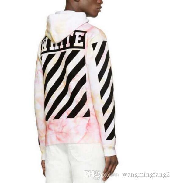 New Unisex Western style OFF# WHITE Virgil Lrregular Print FOG Sweatshirt  hot !