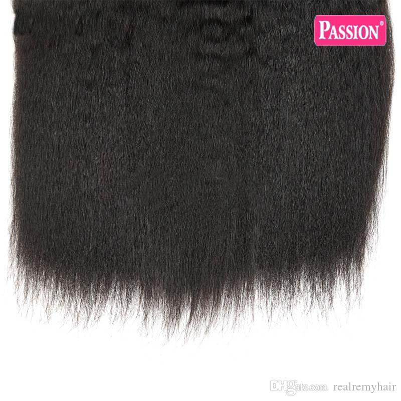 8A 브라질 킨키 스트레이트 버진 헤어 위브 3 묶음 100 % 인간의 머리카락 확장 처리되지 않은 브라질 버진 머리 굵은 구이