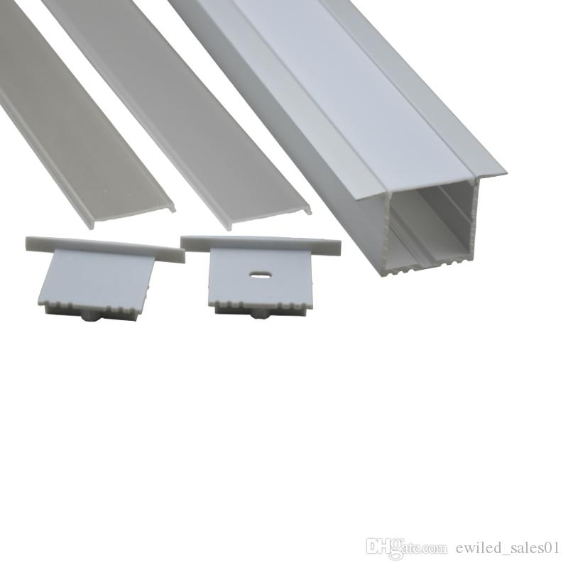 10 X 1M sets/lot Al6063 T type led aluminium strip profile and aluminum  strip light diffuser for recessed wall ceiling lamps