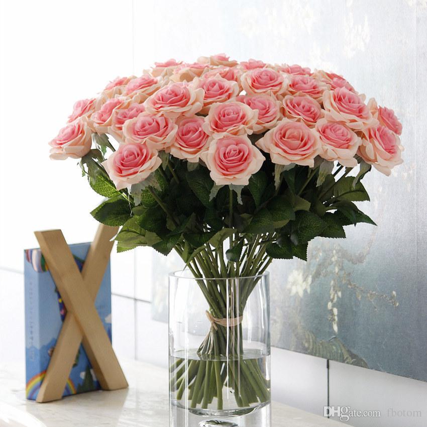Fashion Charming Wedding Party Artificial Flower Faux Rose Bouquet ...