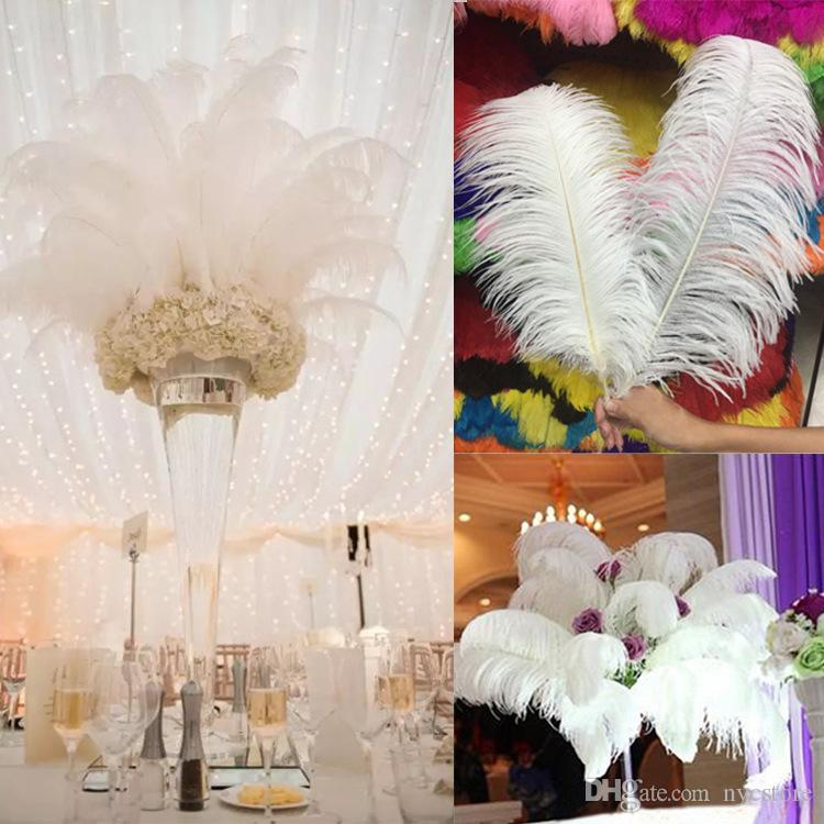 Diy Ostrich Feathers Plume Centerpiece For Wedding Party