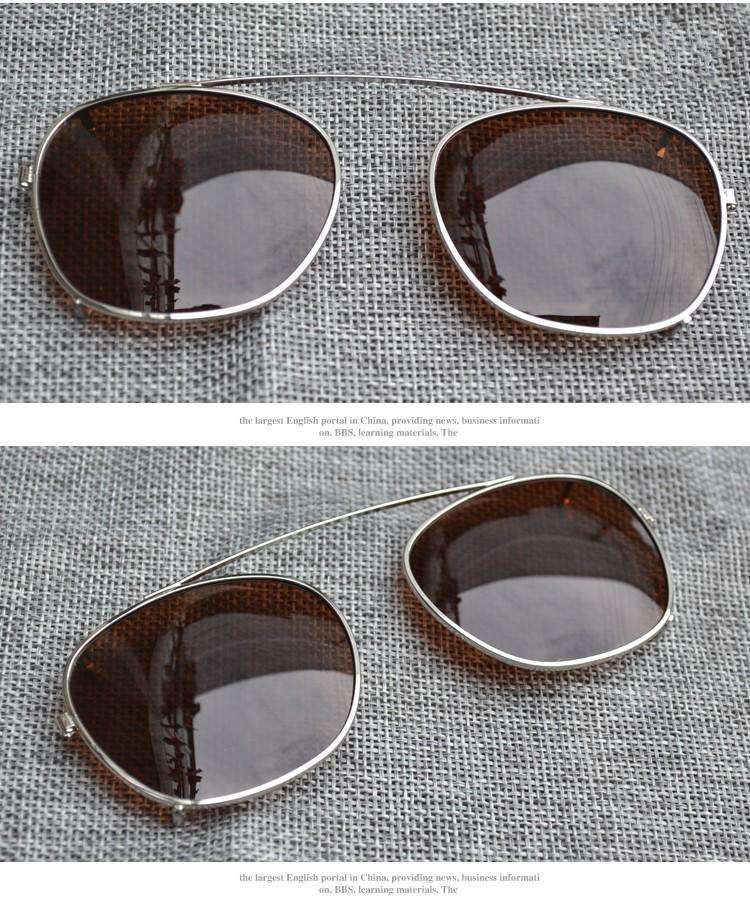 2017 hochwertige Clips zwei Größe Johnny Depp Stil Brille clip Männer Retro Vintage Polarisierte clip Frauen sonnenbrille clips 7 farbe