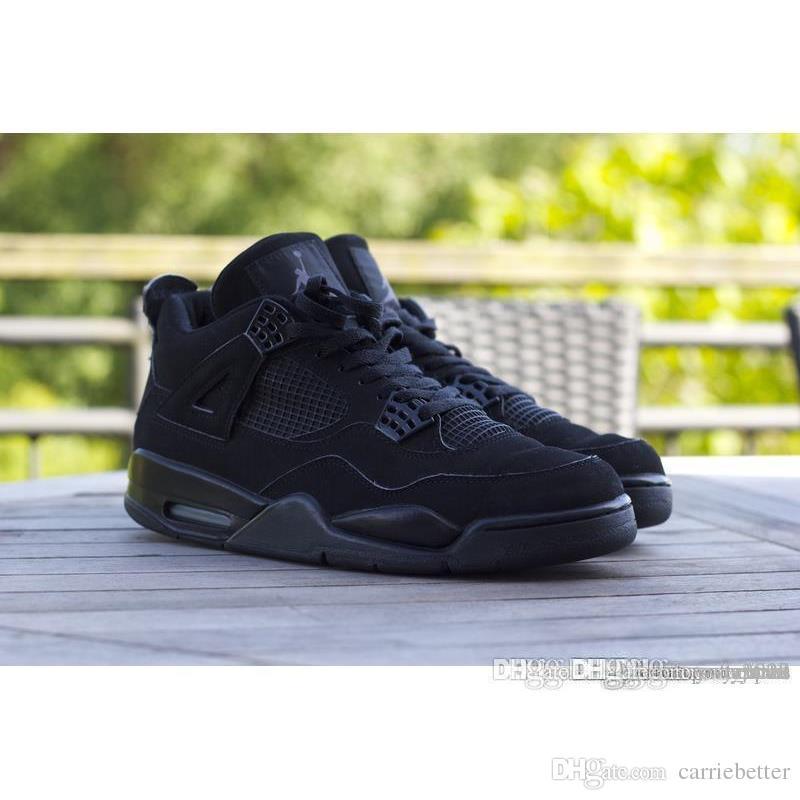 465a46c8e4cd Discount Air Aa Jordan 4 Retro Black Cat Black Graphite Aa Jordans Retros  4s Black Cat . ...