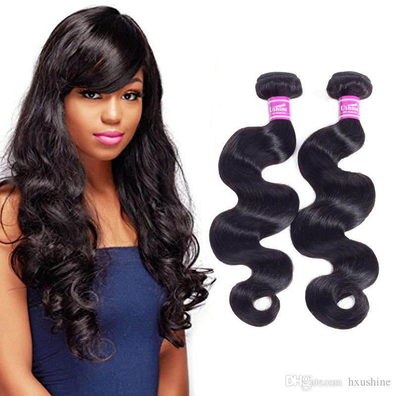 Ushine Peruvian Virgin Hair Body Wave Bundles Can Be Curled Or