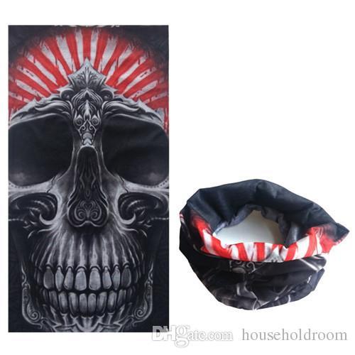 Tam Yüz Maskesi Doğa Sporları Si Bisiklet Motosiklet Magic Eşarp Bandana CS Boyun Snood Cadılar Bayramı Partisi Cosplay Kafatası yüz maskesi