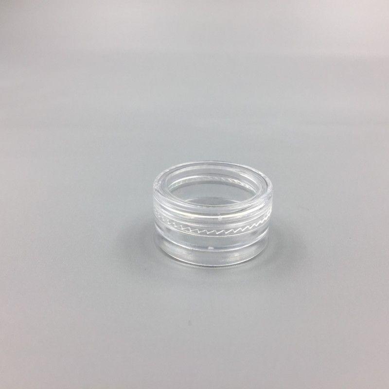1ml / 1G البلاستيك فارغ جرة عينة التجميل Clear Pot Acrylic Make up Eyeshadow Lip Balm Dail Art قطعة حاوية Gliter Bott