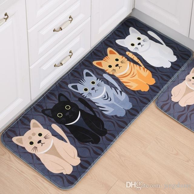Acheter Mignon Welcome Floor Mats Animal Mignon Quatre Chats Imprime