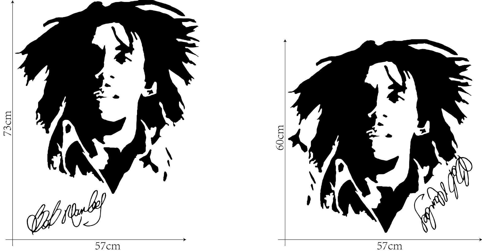 Popular Singer Bob Marley Wall Stickers Home Decor Removable PVC Wallpaper Posters DIY Decorative Wall Graphic Silhouette Mural