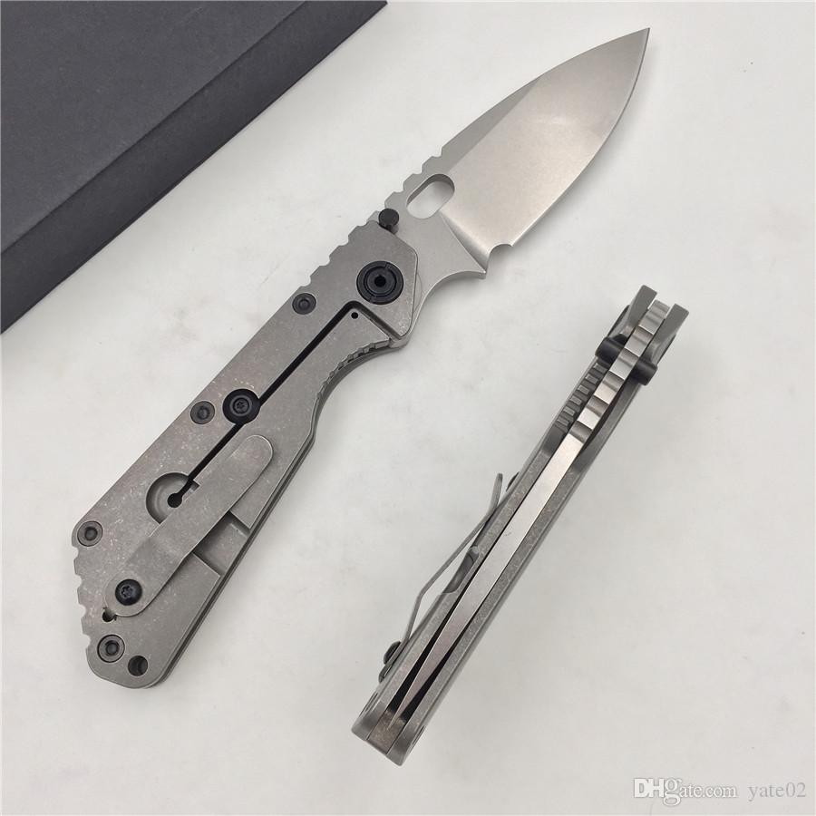 ST SMF folding knife D2 blade titanium alloy handle copper washing machine kitchen outdoor fruit fruit knife EDC.