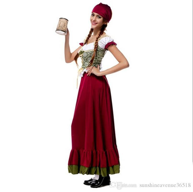 2017 Oktoberfest Beer Girl Costume Sexy Cosplay Halloween Uniform Temptation Traditional Bavarian National Clothing Hot Selling