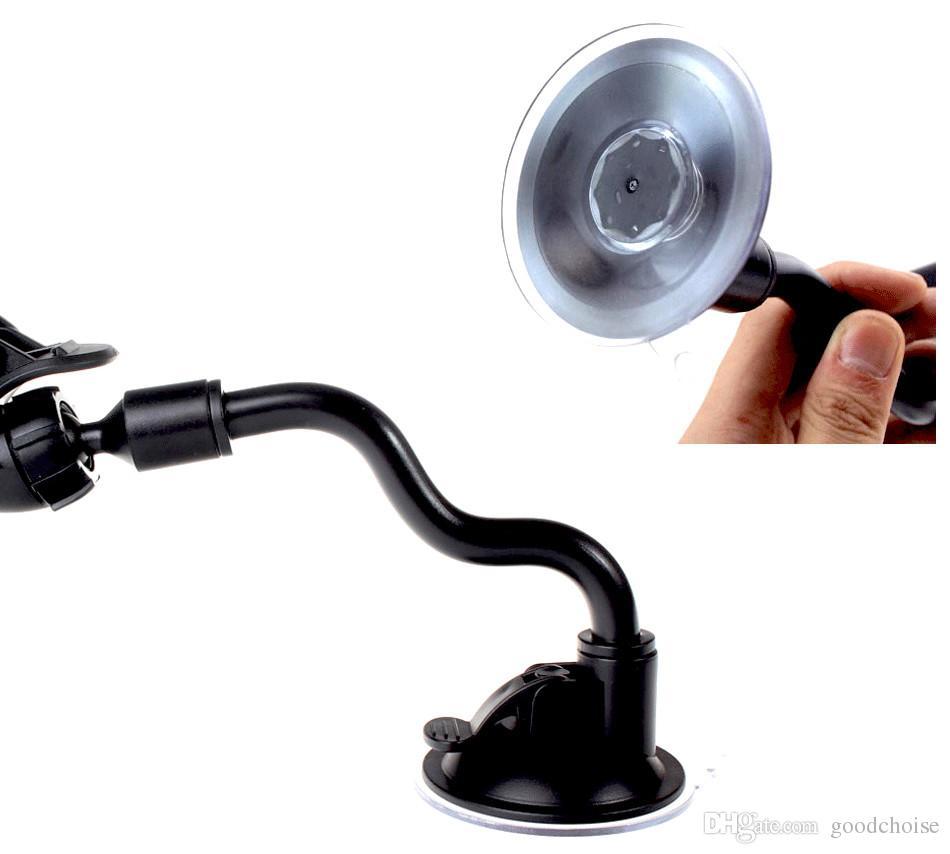 Suporte universal do telefone móvel do carro girando 360 graus Longo braço de telefone celular Montagem de telefone celular para GPS MP4 cor: preto