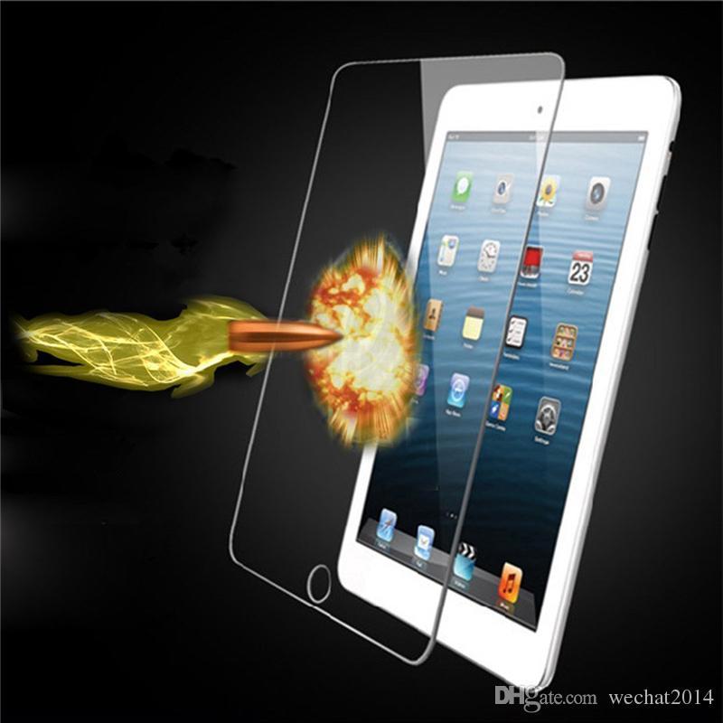 À prova de explosão à prova de explosão 9 h 0.3mm protetor de tela de vidro temperado para ipad 2 3 4 air 2 sem pacote