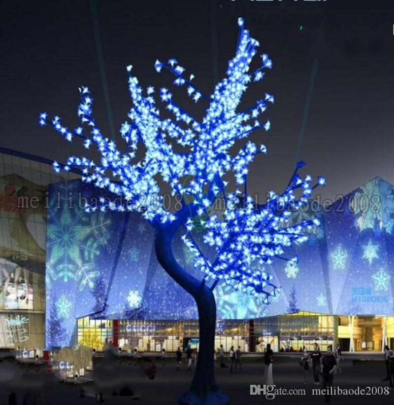 2017 Luz de árbol de flor de cerezo LED 864 unids Bombillas LED 1.8 m Altura 110 / 220VCA Siete colores para la opción Impermeable a prueba de lluvia Uso al aire libre Envío de la gota MYY