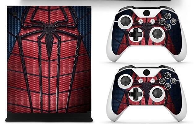Spider Man Full Set Haut Aufkleber Schutzfolie Vinyl Aufkleber Für Microsoft Xbox One S Konsole Und 2 Controller Cover Skin Aufkleber