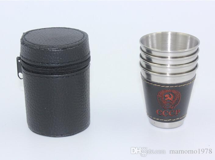 / lote new 70 ml Copos Set 304 Copos De Aço Inoxidável de Cerveja De Vinho Canecas de Uísque Ao Ar Livre Copo de Viagem venda Especial Z1123