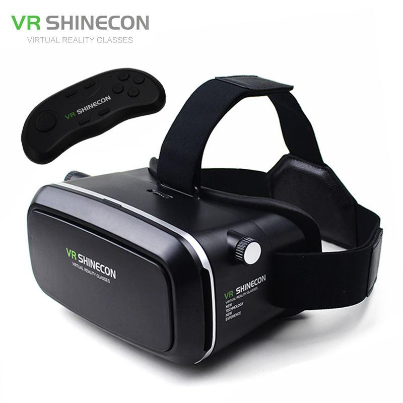 ed4355dd9cb Shinecon VR Virtual Reality Glasses Box VR Headset IPD 360 3D Video Glasses  Helmet For 4.0 6.0 Phone+Wireless Remote Control 3d Movie Goggles 3d Video  Game ...