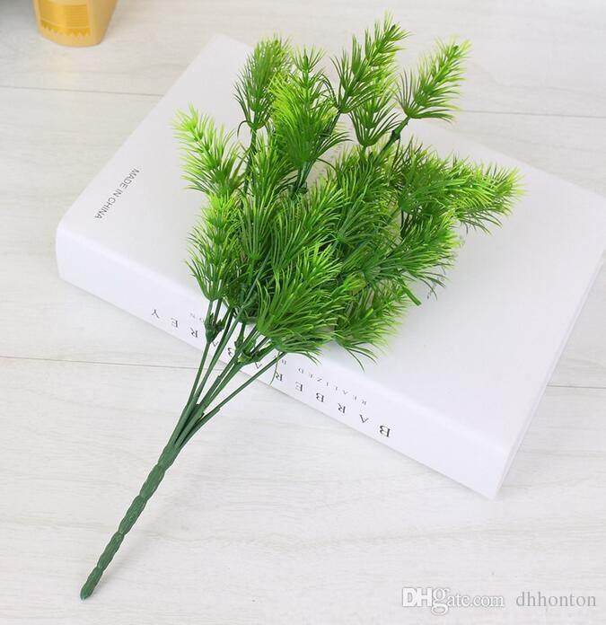 Plante artificielle vert pin décoration décoration de la maison de l'herbe artificielle bureau et table affichage livraison gratuite AP002