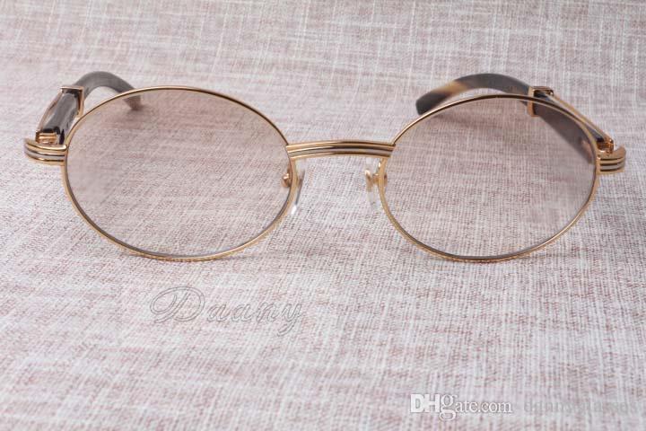 2019The nuevas gafas de sol anti-radiación cristales 7550178 híbridos naturales ángulo hombres y mujeres gafas de sol de las gafas tamaño: vasos 55-22-135mm
