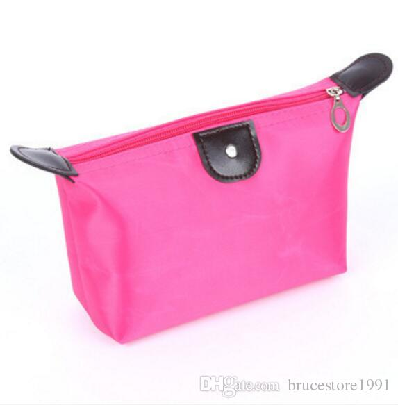 Sugar Pink Travel Makeup Bags Women's Lady Cosmetic Bag Pouch Clutch Handbag Hanging Jewelry Casual Purse