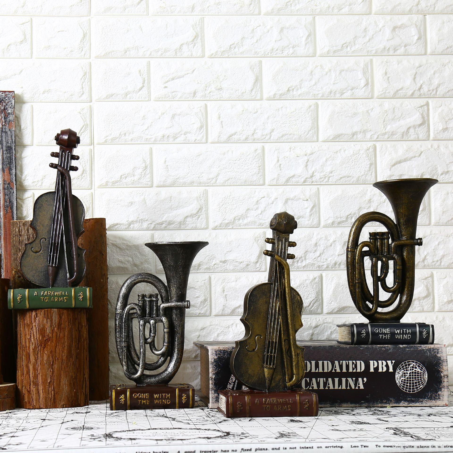 Accessori Per La Casa Shabby Chic.Acquista Strumenti Musicali Vintage Shabby Chic Cafe Bar Accessori
