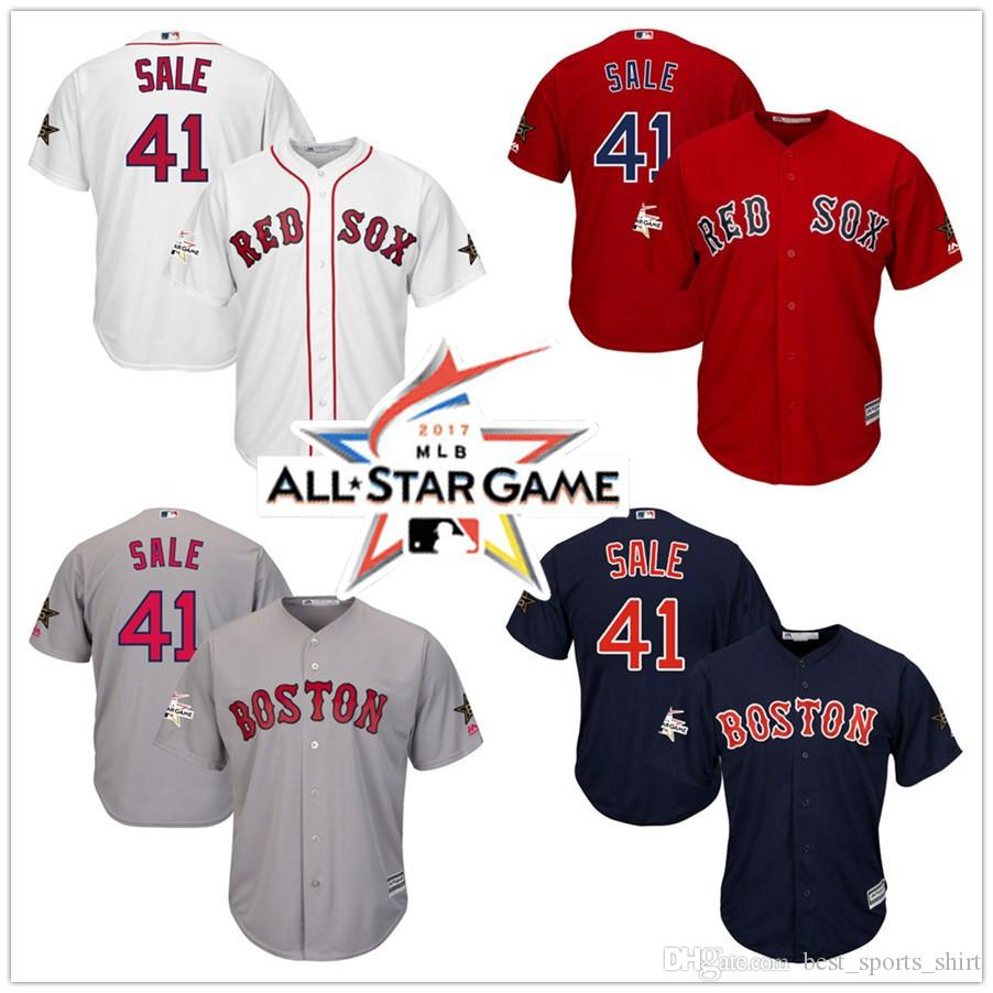 489c63ace ... gray road stitched mlb majestic cool base release date mens boston red  sox 41 chris sale majestic all star red white home cool coupon for youth ...