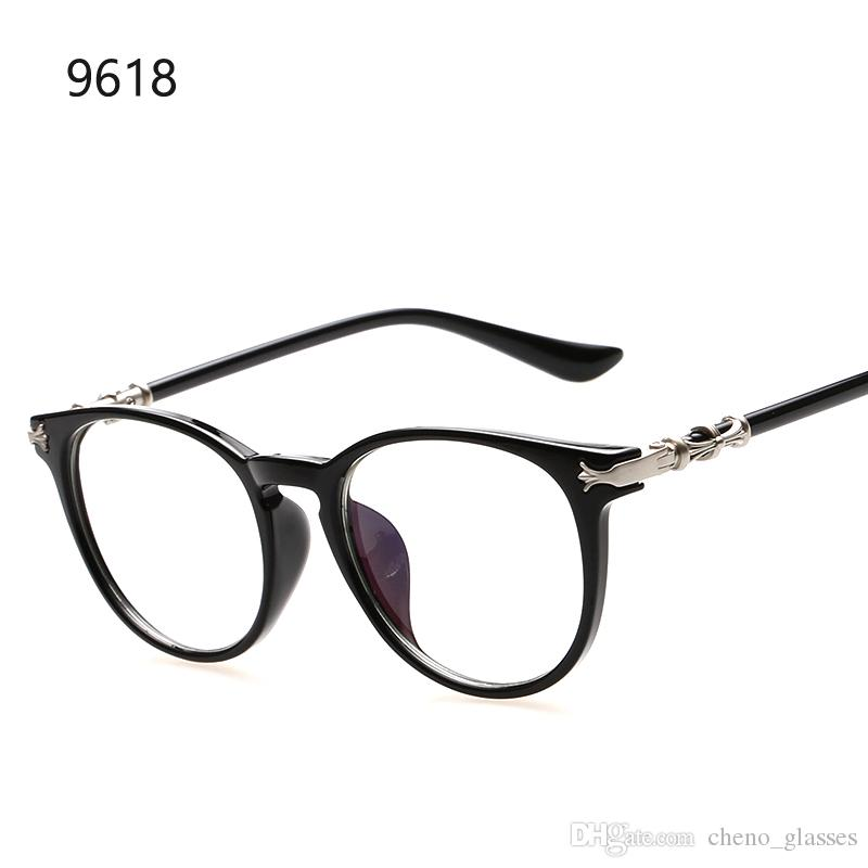 e9ba552e45 2019 2016 Fashion Round Clear Lens Glasses Women Optical Frames Brand  Design Vintage Men Glasses Frame Korea Style Gafas De Sol From  Cheno glasses