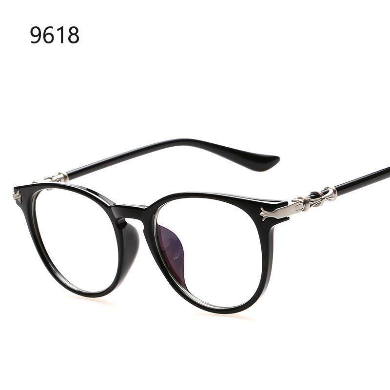 f2fdd7750606f Compre 2016 Moda Ronda Gafas De Lente Transparente Mujeres Marcos Ópticos  Diseño De Marca Vintage Hombres Gafas Marco Estilo De Corea Gafas De Sol A   142.14 ...