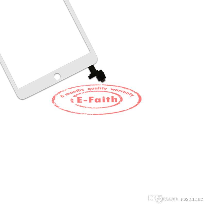 EFaith kalite Sayısallaştırıcı için iPad Mini Dokunmatik Ekran + IC ev düğmesi + yapışkan yedek Ücretsiz DHL Kargo