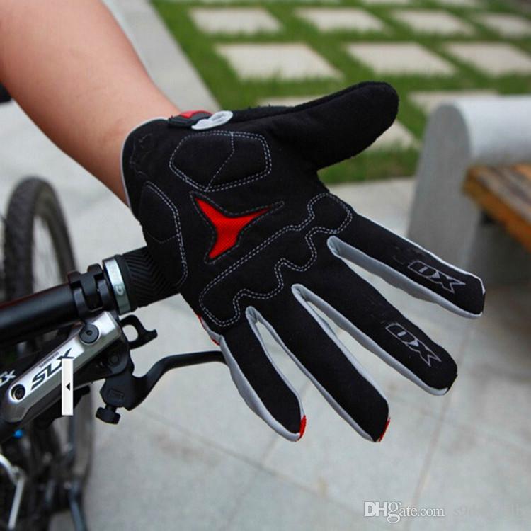 Marca Ciclismo Luvas de Dedo Completo Bicicleta Luvas de Bicicleta Pad Gel de Corrida de Ciclismo Luvas Longas guantes ciclismo luva guantes