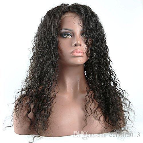 360 Dantel Frontal Peruk 150% yoğunluk Dantel Ön Peruk Bebek Saç Ile Brezilyalı kinky Kıvırcık Tam Dantel İnsan Saç Peruk Ön Koparıp Hairline