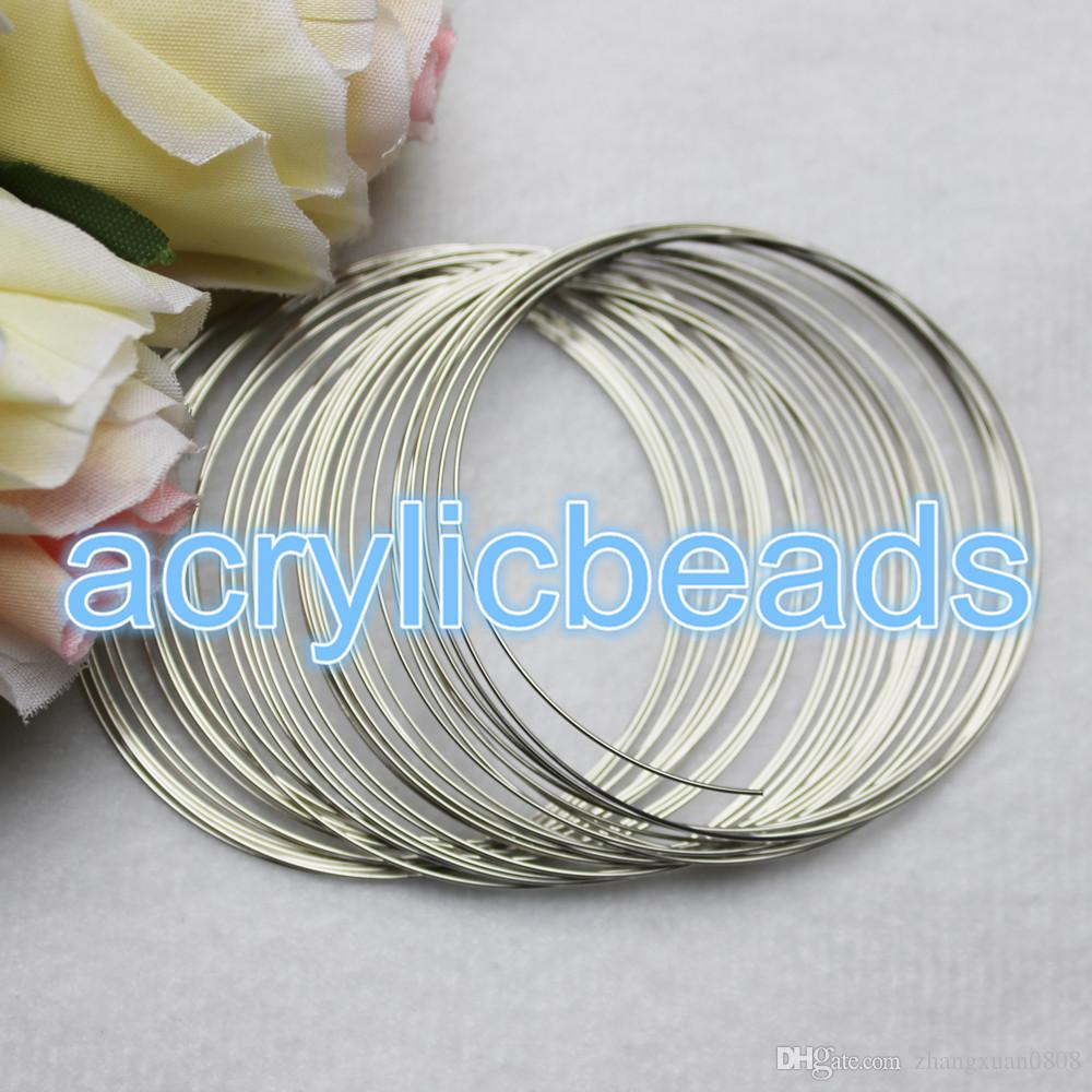 2018 0.6*20/60/120mm Stainless Steel Memory Wire Cord Jewelry ...