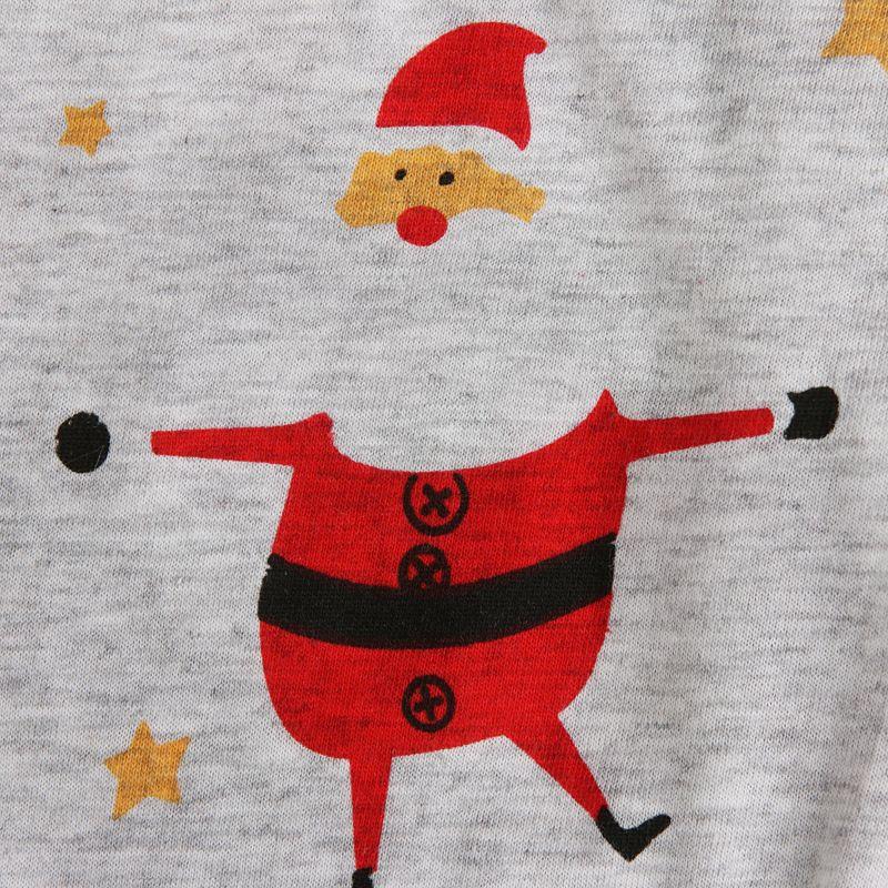INS Детская одежда мальчики девочки Рождество Санта-Клаус пижамы дети осень с длинным рукавом + печатных Брюки 2 шт. рождественские наборы