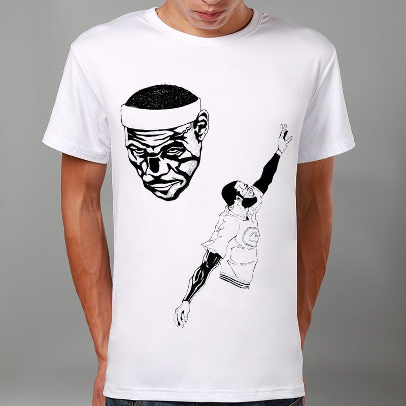 Men Fashion Lebron James Art Sport Print Summer T Shirt Funny T Shirts  Short Sleeve Tee Shirt Tops Clothes Men S T Shirt Printed Shirts Design  Shirts From ... b721de20a