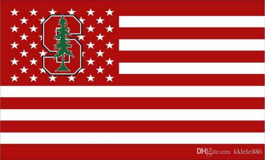 Stanford Kardinal Bayrağı 90 x 150 cm Polyester NCAA Stars And Stripes Afiş