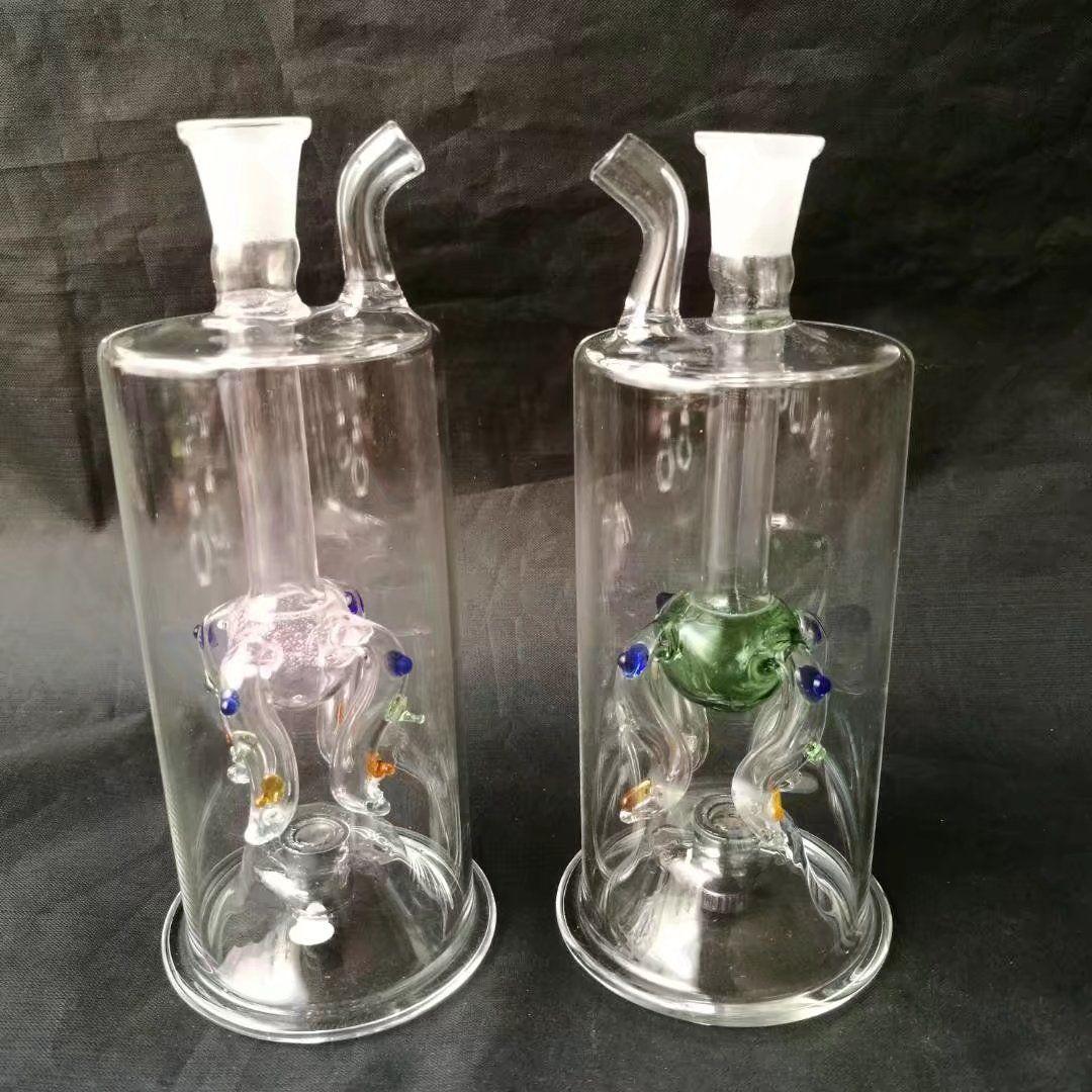 Dragonet는 램프 유리 필터 냄비와 아름 다운 led 빛으로 유리 물 파이프 담배 흡연에 대 한 필터 담배 파이프 기능