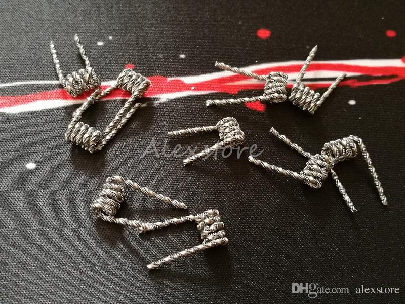 Torcia bobina filo 0.2ohm 29GA * 20GA + 32GA-26GA * 18GA Hive Staggered Scale Alien Wave Flat Premade Wrap Wires Resistenza prefabbricata Vape