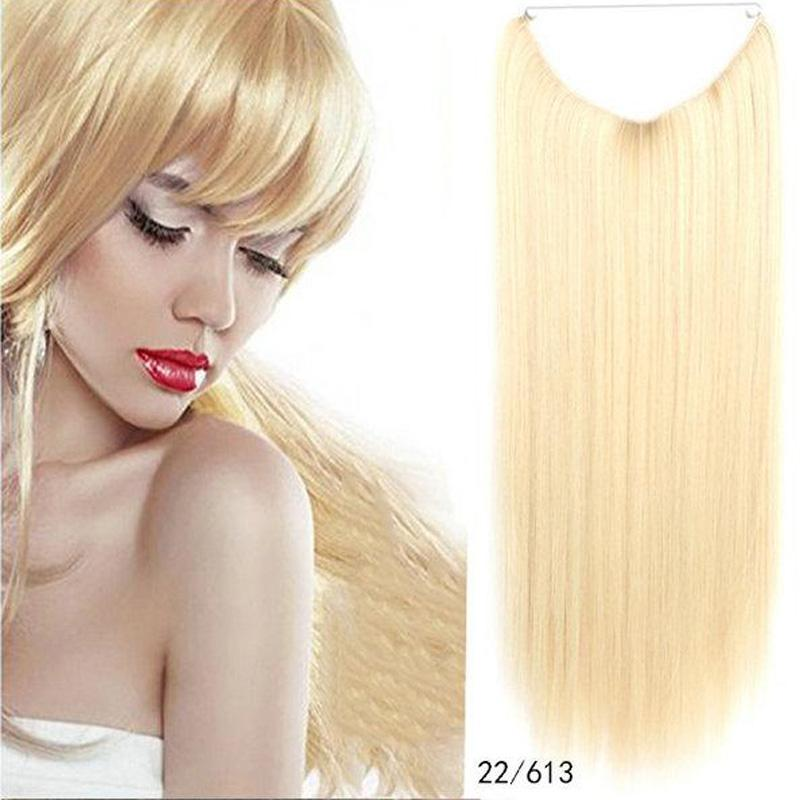 Wholesale New Hot Invisible Crown Synthetic Hair Extensions Elastic