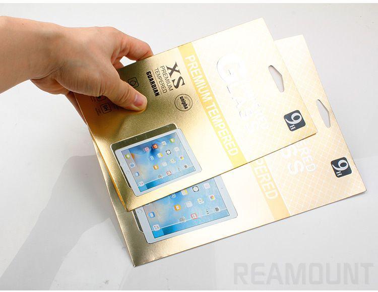 Großhandel Luxus Glanzpapier Verpackung für gehärtete Glas-Film-Schirm-Schutz für Pad 2 3 4 mit Fall-Loch