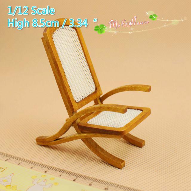 2018 1:12 Scale Dollhouse Mini Sun Chair Doll House Furniture Fine Craft /Doll  House Mini Furnitures Accessory /Mini Chair Outdoor Decor Brown From ...