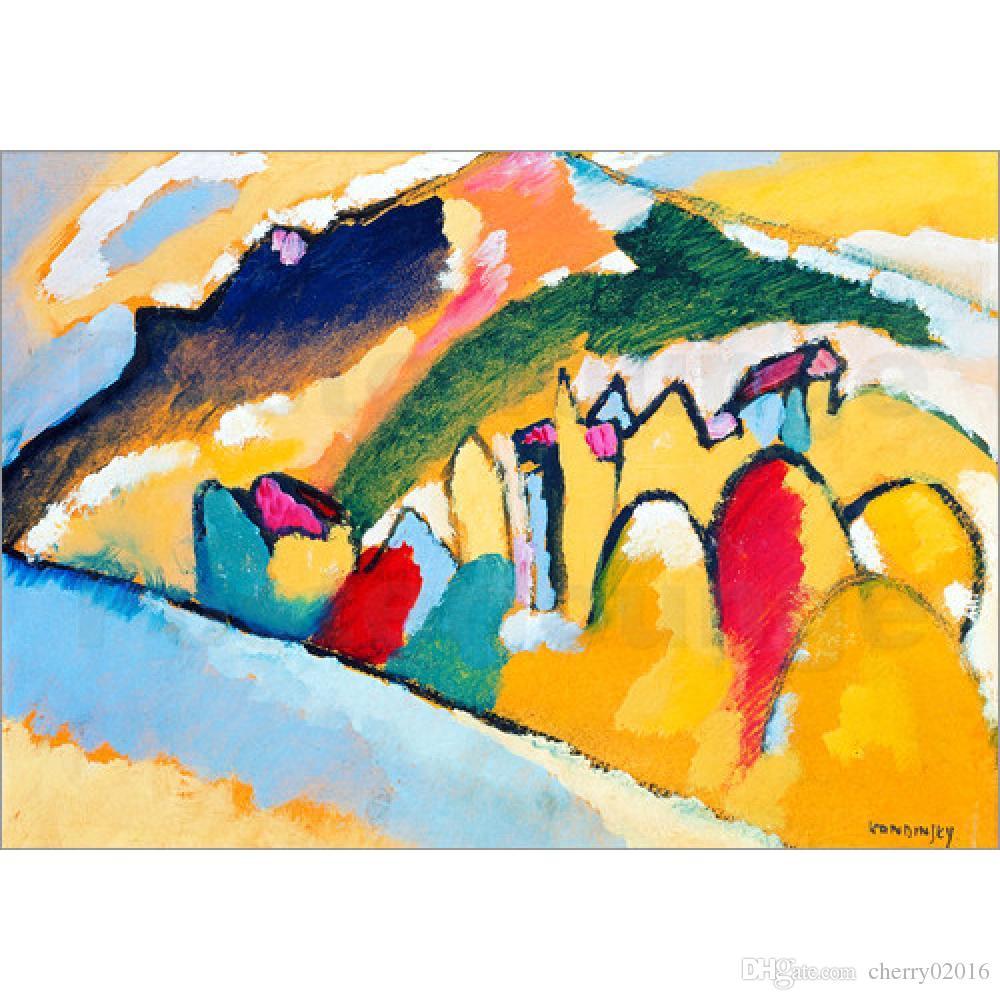 2018 Handmade Oil Painting Wassily Kandinsky Studie Zu Herbst I ...