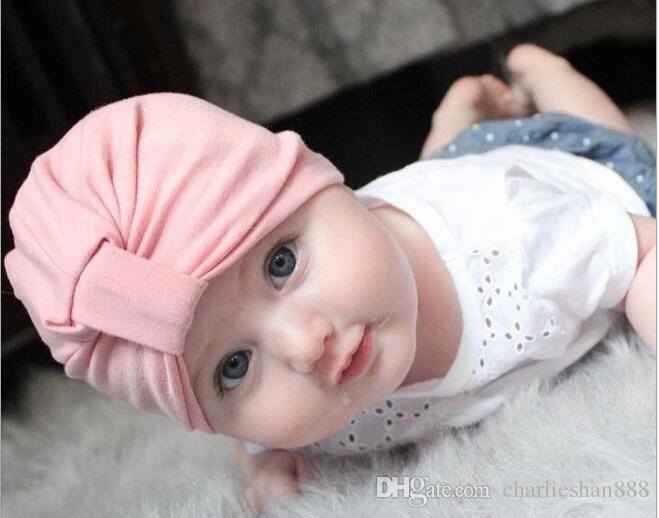 chosen baby girls boys infant toddler cotton soft turban knot cap