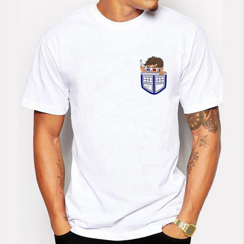 Men T Shirt Funny Doctor Who Police Inside Your Pocket T Shirt ...